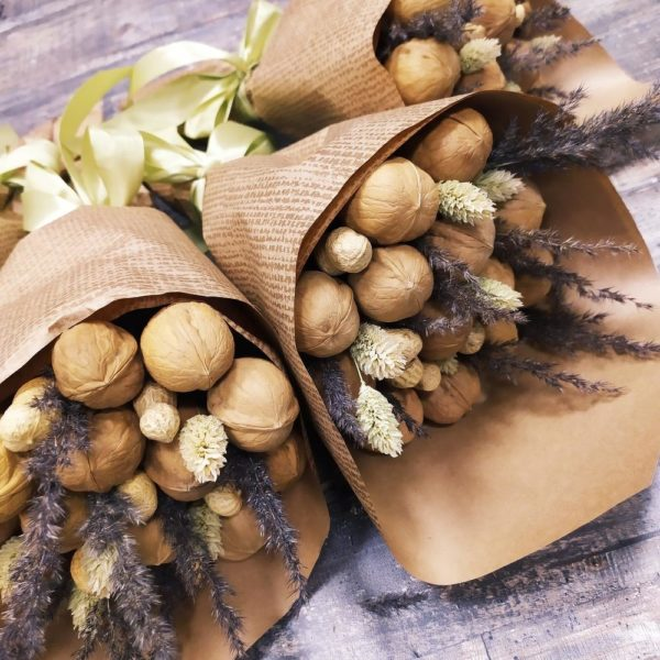 Букеты с орехами и сухофруктами
