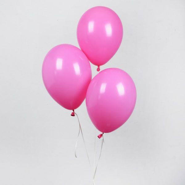 розовые воздушные шарики