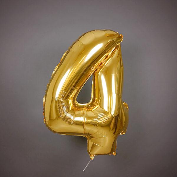 Фольгированный воздушный шар Цифра 4 фото