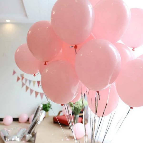 розовые пастельные воздушные шары