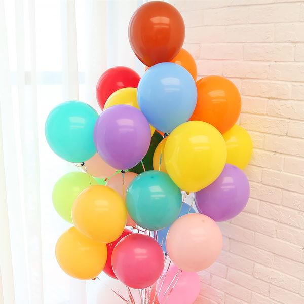 Пастельные воздушные шары набор из разноцветных