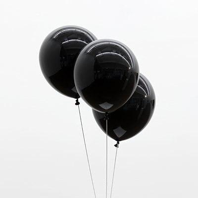 воздушные шары черные матовые