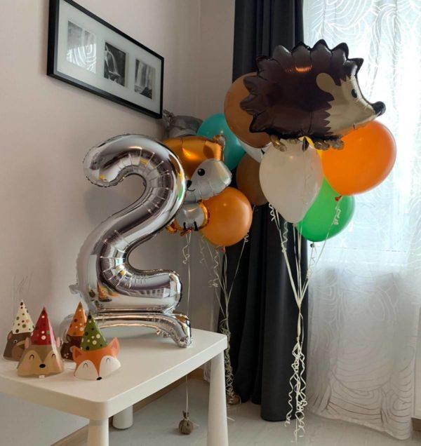 сет из воздушных шаров Лесная сказка на день рождение